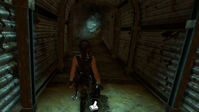 In the Red Mines tomb, at the moment at which towards Lara (after you jump above the chasm) a cart slides down, Lara automatically comes down - Survival Caches | Soviet Installation - Soviet Installation - Rise of the Tomb Raider Game Guide & Walkthrough