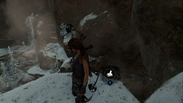 At the end, on the projecting ledge, next to another spot where you can attach the rope, you find the cache - Survival Caches | Soviet Installation - Soviet Installation - Rise of the Tomb Raider Game Guide & Walkthrough