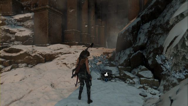 In front of the bulky entrance of the Voice of God tomb, by the rocks on the right - Survival Caches | Soviet Installation - Soviet Installation - Rise of the Tomb Raider Game Guide & Walkthrough