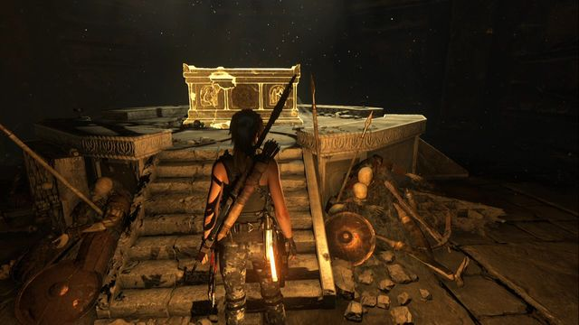After you enter the crypt close to the camp Overlook - Chests and crypt treasures | Soviet Installation - Soviet Installation - Rise of the Tomb Raider Game Guide & Walkthrough