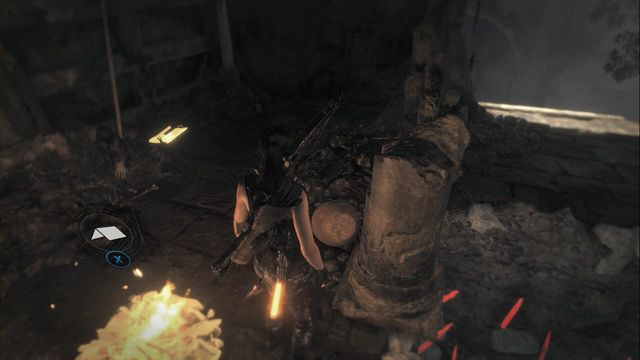 On the ground next to the campfire, in the Syrian Tomb Base Camp - Relics and documents | Syria - Syria - Rise of the Tomb Raider Game Guide & Walkthrough