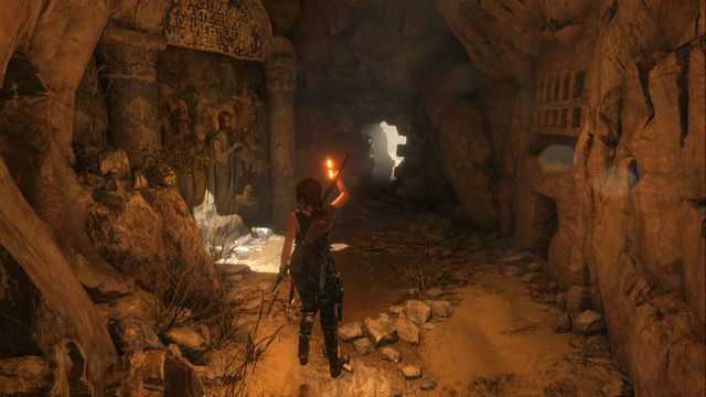In the corridor, right next to the Syrian Cliffs camp (go left from the campfire) - Murals and chests | Syria - Syria - Rise of the Tomb Raider Game Guide & Walkthrough