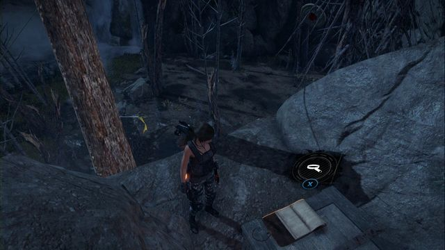 On the ledge that you can reach over the tree that you can stick broadhead arrows into - Documents 1-15 | Geothermal Valley - Geothermal Valley - Rise of the Tomb Raider Game Guide & Walkthrough