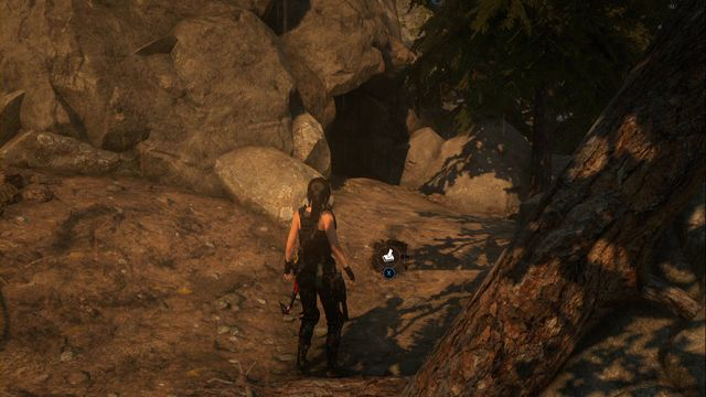 By the fallen tree, in front of the crypt entrance - Chests and crypt treasures | Geothermal Valley - Geothermal Valley - Rise of the Tomb Raider Game Guide & Walkthrough