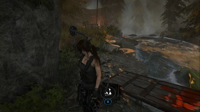On your way away from the Ridgeline Base Camp, approach the escarpment - the chest is buried next to the platform from which you can jump into the water - Chests and crypt treasures | Geothermal Valley - Geothermal Valley - Rise of the Tomb Raider Game Guide & Walkthrough