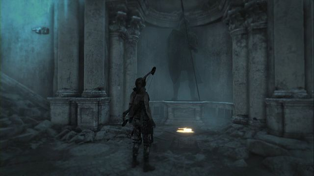 At the foot of the statue, in the middle of stairs to the first gate - Documents | Lost City - Lost City - Rise of the Tomb Raider Game Guide & Walkthrough