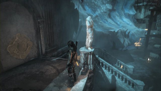 On the wall of one of the buildings - Murals and chests | Lost City - Lost City - Rise of the Tomb Raider Game Guide & Walkthrough