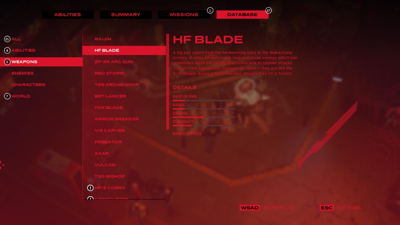 Nombre de armas - Todas las armas en Ruiner |  Consejos - Consejos - Ruiner Game Guide