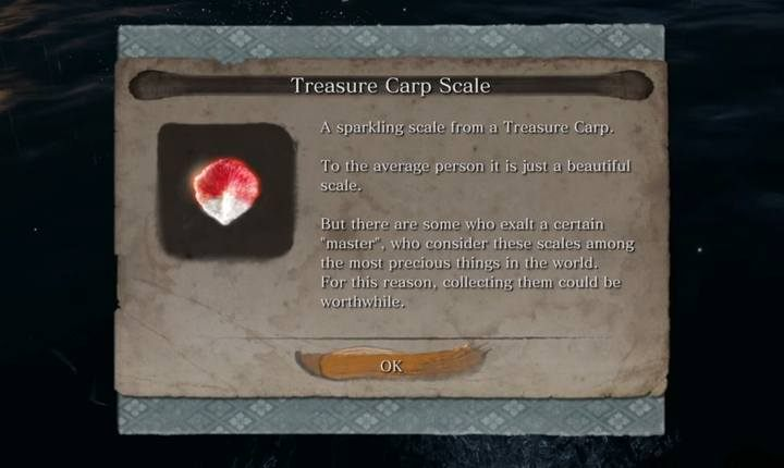 A Treasure Carp Scale. - Pot Noble Harunaga | Merchants in Sekiro Shadows Die Twice - Merchants - Sekiro Guide and Walkthrough