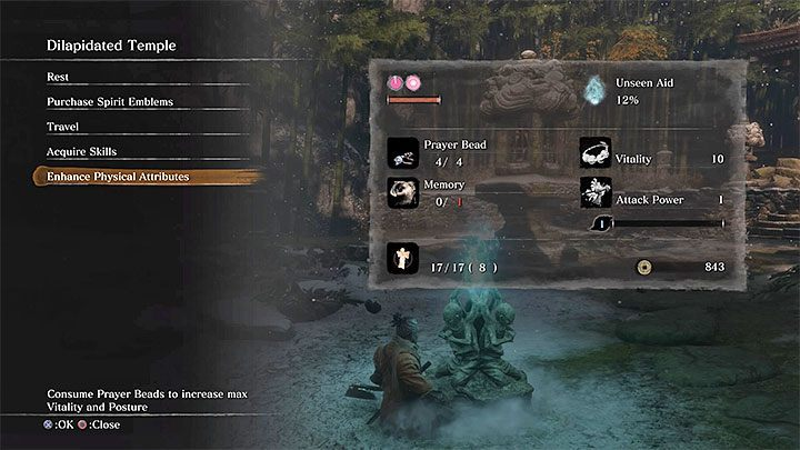 Vital force and Posture can be increased only by purchasing Prayer Beads - Character Development in Sekiro Shadows Die Twice - Basics - Sekiro Guide and Walkthrough