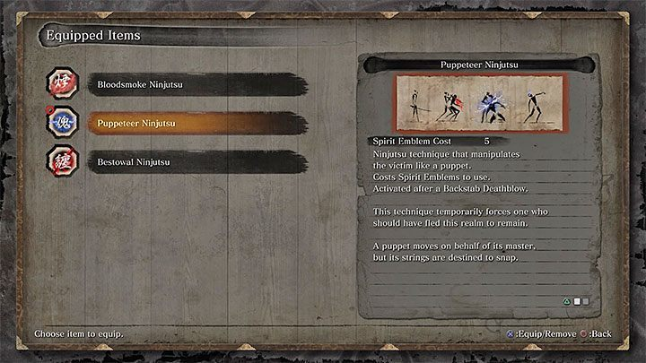 In Sekiro, you can unlock only three Ninjutsu Techniques - Character Development in Sekiro Shadows Die Twice - Basics - Sekiro Guide and Walkthrough