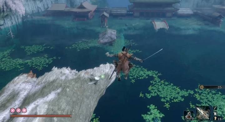 Jump into the lake and dive to its bottom in the middle - Headless (underwater) #3 | Sekiro Shadows Die Twice Boss Fight - Bosses - Sekiro Guide and Walkthrough