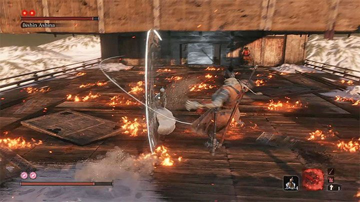 Isshin Ashina, unlike Emma, is marked with two markers, which means that to defeat him, you need to perform two deadly attacks - Isshin Ashina | Sekiro Shadows Die Twice Boss Fight - Bosses - Sekiro Guide and Walkthrough