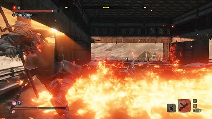 Two other fire attacks of Isshin - Isshin Ashina | Sekiro Shadows Die Twice Boss Fight - Bosses - Sekiro Guide and Walkthrough