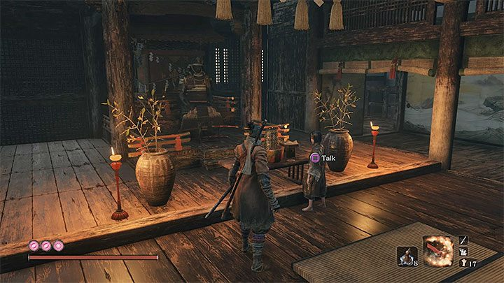 Emma the Physician and Kuro are both in Kuros Room - How to enter the Fountainhead Palace in Sekiro? - FAQ - Sekiro Guide and Walkthrough