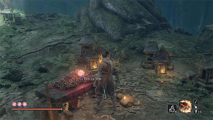 You can get Shelter Stone right after you defeat Corrupted Monk in Ashina Depths - How to enter the Fountainhead Palace in Sekiro? - FAQ - Sekiro Guide and Walkthrough