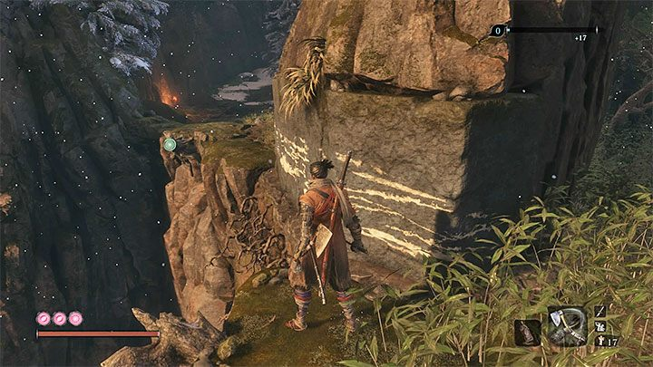 Approach the wall and climb it - Where is the entrance to Ashina Depths in Sekiro? - FAQ - Sekiro Guide and Walkthrough