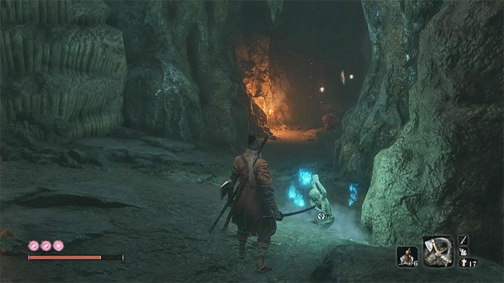 Reach the end of this ledge and jump to the next one - Where is the entrance to Ashina Depths in Sekiro? - FAQ - Sekiro Guide and Walkthrough