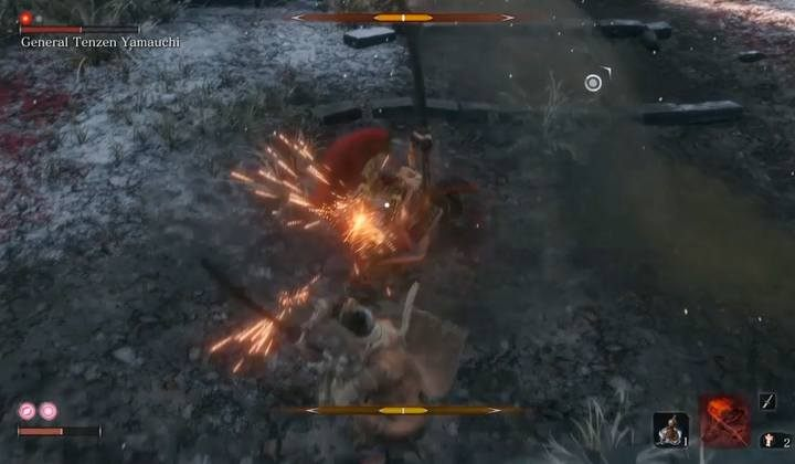 Parrying is crucial in this fight. Dodge only the bosss special attacks. - General Tenzen Yamauchi | Sekiro Shadows Die Twice Boss Fight - Bosses - Sekiro Guide and Walkthrough