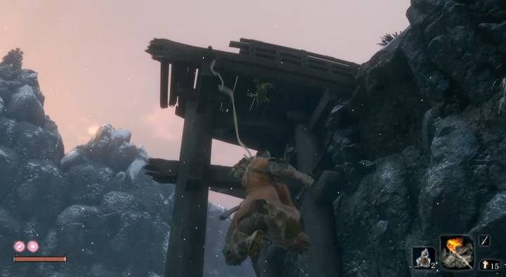 A Sculptors Idol is right below the destroyed bridge. Unlock it before you face the boss. The path to the boss is shorter from here. - General Tenzen Yamauchi | Sekiro Shadows Die Twice Boss Fight - Bosses - Sekiro Guide and Walkthrough