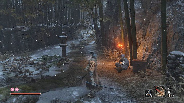 Fujioka will leave Ashina Castle and reach the Temple - Gourd Seeds | Unique items in Sekiro Shadows Die Twice - Unique items - Sekiro Guide and Walkthrough