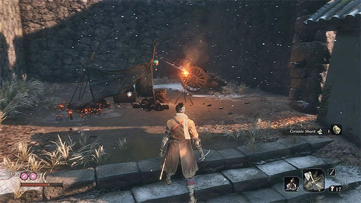 Turn right twice and continue climbing the stairs - Gourd Seeds | Unique items in Sekiro Shadows Die Twice - Unique items - Sekiro Guide and Walkthrough