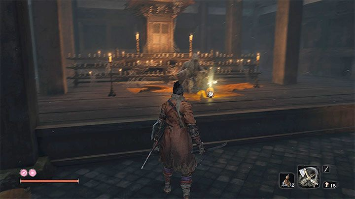 The seed lies in the lower building of the temple, which for the first time can be reached by going through a part of the forest, with a lot of monks who travel by it - Gourd Seeds | Unique items in Sekiro Shadows Die Twice - Unique items - Sekiro Guide and Walkthrough