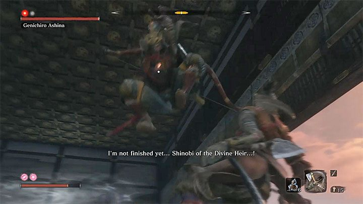 It is important to dodge Genichiros unblockable attacks (those marked with a red symbol) - Genichiro Ashina | Sekiro Shadows Die Twice Boss Fight - Bosses - Sekiro Guide and Walkthrough