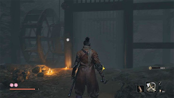 The lift presented in the picture above is your goal - How to reach Senpou Temple in Sekiro Shadows Die Twice? - FAQ - Sekiro Guide and Walkthrough