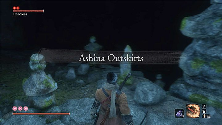 Go through the cave, and you will go back to Ashina Outskirts - Headless #2 | Sekiro Shadows Die Twice Boss Fight - Bosses - Sekiro Guide and Walkthrough