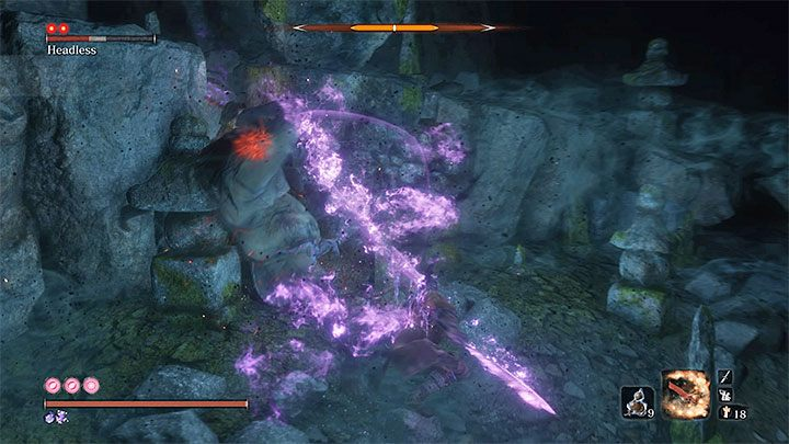 Use Pacifying Agent or Mottled Purple Gourd and apply Divine Confetti before you enter the cave - Headless #2 | Sekiro Shadows Die Twice Boss Fight - Bosses - Sekiro Guide and Walkthrough