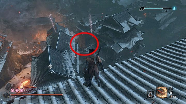 After defeating the Divine Dragon, Wolf is teleported to Ashina Castle - Return | Sekiro Shadows Die Twice endings - Game Endings - Sekiro Guide and Walkthrough