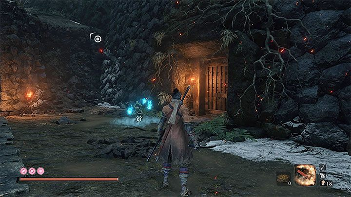 When you are at the bottom, look for a side passage leading to Ashina Reservoir Sculptors Idol - Return | Sekiro Shadows Die Twice endings - Game Endings - Sekiro Guide and Walkthrough