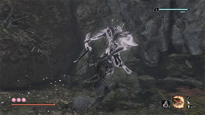 Quickly reach the second spirit enemy and start attacking it - XP and Gold Farming in Sekiro Shadows Die Twice - Basics - Sekiro Guide and Walkthrough