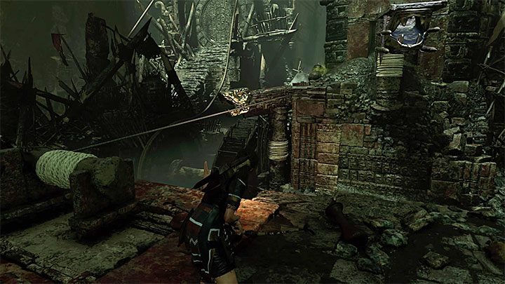 Release Lara from the rope and after landing in the water, swim to the shelf located to the right side of the gate - How to solve the gate opening puzzle of Eye of the Serpent in Cenotes? - Solving Riddles - Shadow of the Tomb Raider Game Guide