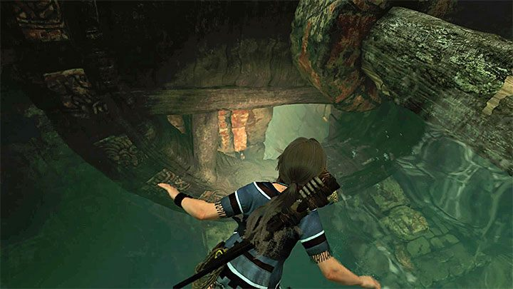 Jump into the water and dive - How to solve the gate opening puzzle of Eye of the Serpent in Cenotes? - Solving Riddles - Shadow of the Tomb Raider Game Guide