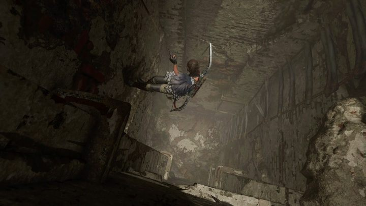 To get to the sarcophagus you have to descend on two climbing walls - Crypts in Mission of San Juan in Shadow of the Tomb Raider - Crypts - Shadow of the Tomb Raider Game Guide