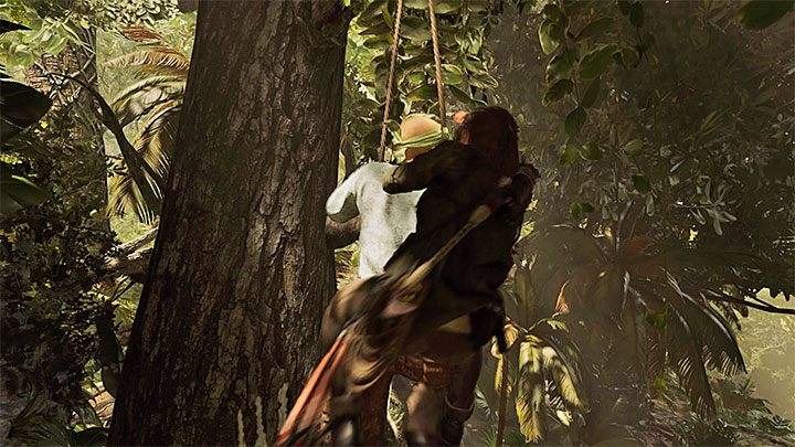 From now on, you can use Eagles Talon to hang enemies on trees - Surprise! trophy in Shadow of the Tomb Raider - Trophy Guide - Shadow of the Tomb Raider Game Guide