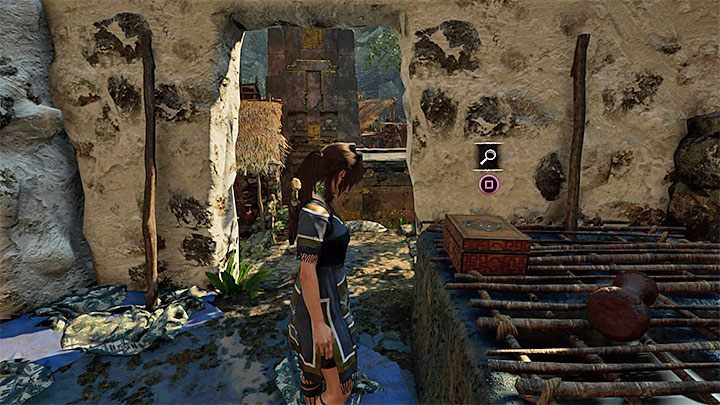 Relic (6) is in the chest near stairs inside one of the buildings - Relics | Secrects in Shadow of the Tomb Raider - The Hidden City - Shadow of the Tomb Raider Game Guide