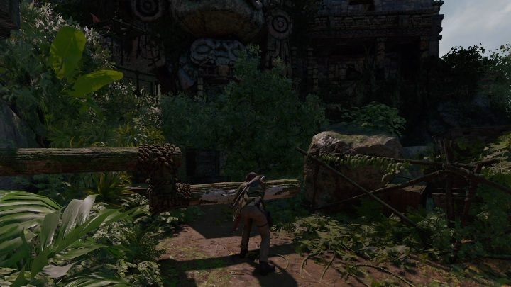 Once there, cut the rope and approach the ancient mechanism - Challenge Tombs - Peruvian Jungle Tombs in Shadow of the Tomb Raider Game - Challenge Tombs - Shadow of the Tomb Raider Game Guide