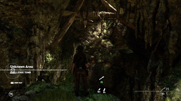 To enter the location youll need to break some rocks that block the entrance - Challenge Tombs - Peruvian Jungle Tombs in Shadow of the Tomb Raider Game - Challenge Tombs - Shadow of the Tomb Raider Game Guide