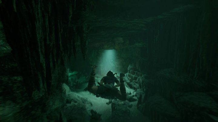 To get to the inside of the tomb you have to cross the path underwater - Challenge Tombs - Cenote Tombs in Shadow of the Tomb Raider - Challenge Tombs - Shadow of the Tomb Raider Game Guide