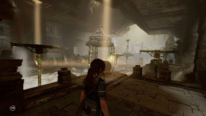 On the right side of the room you will find barely open doors - Challenge Tombs - The Hidden City in Shadow of the Tomb Raider - Challenge Tombs - Shadow of the Tomb Raider Game Guide