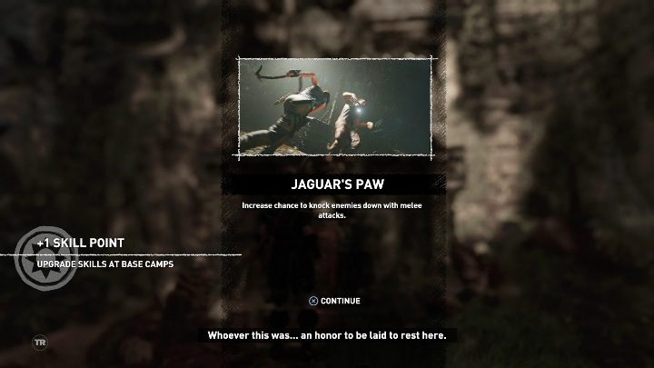 From this challenge tomb you will get the Jaguars Paw skill - Challenge Tombs - The Hidden City in Shadow of the Tomb Raider - Challenge Tombs - Shadow of the Tomb Raider Game Guide