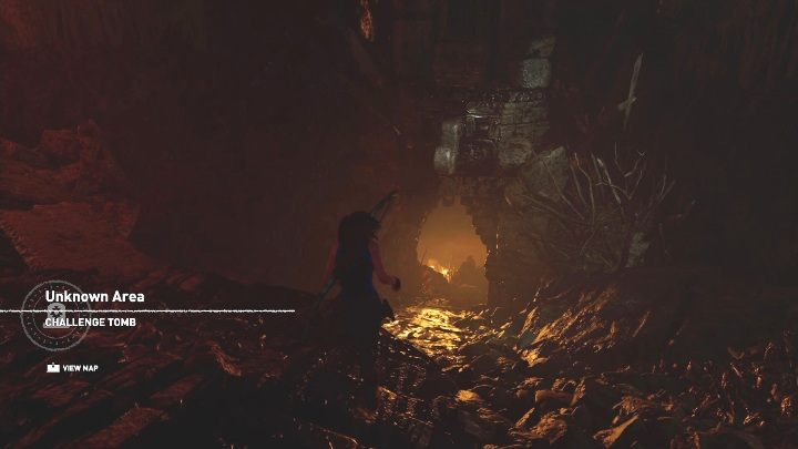 To get to the tomb you have to jump into the water from the cliff, then climb the rocks and follow the left path - Challenge Tombs - Kuwaq Yaku in Shadow of the Tomb Raider - Challenge Tombs - Shadow of the Tomb Raider Game Guide