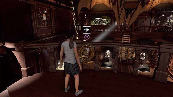 Reach the other end of the balconies, location the new mechanism - Forbidden Tomb and summoning the White Queene in Croft Manor - Brave Adventurer - Croft Manor - Shadow of the Tomb Raider Game Guide