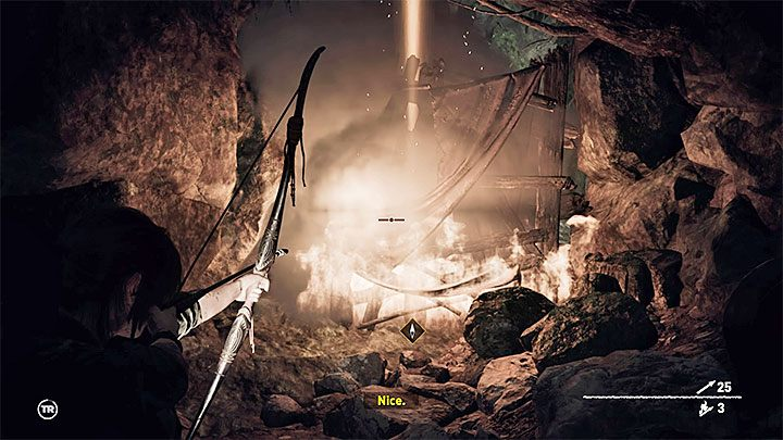 Having entered the cave, the protagonists will encounter a barricade, luckily, a flammable one - Reaching Kuwaq Yaku - Where the Twins Confer - Peruvian Jungle - return - Shadow of the Tomb Raider Game Guide