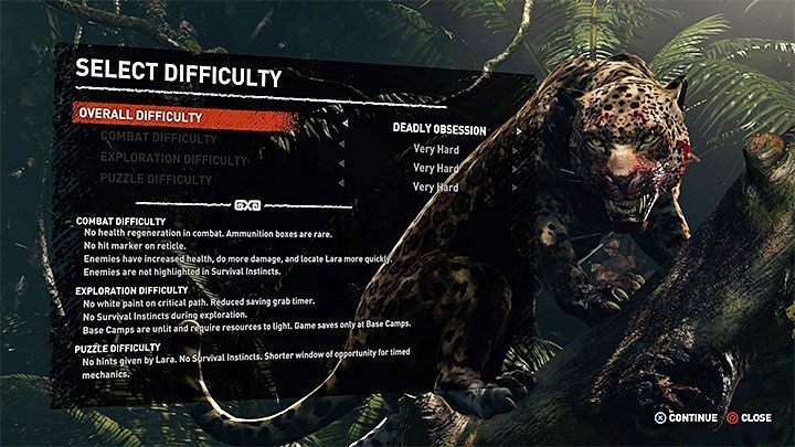 The highest difficulty level is available from the very beginning, but you should not choose it when trying to complete the game for the first time - Deadly Obsession trophy in Shadow of the Tomb Raider - Trophy Guide - Shadow of the Tomb Raider Game Guide