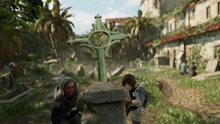 After completing the task for the children, you must help the woman raise the cross - Mission of San Juan side quests in Shadow of the Tomb Raider - Side Quests - Shadow of the Tomb Raider Game Guide