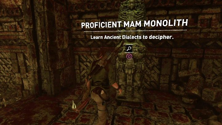 To read a monolith you need to know the appropriate dialect at a given level - How does a Monoliths work in Shadow of the Tomb Raider Game? - Monoliths - Shadow of the Tomb Raider Game Guide